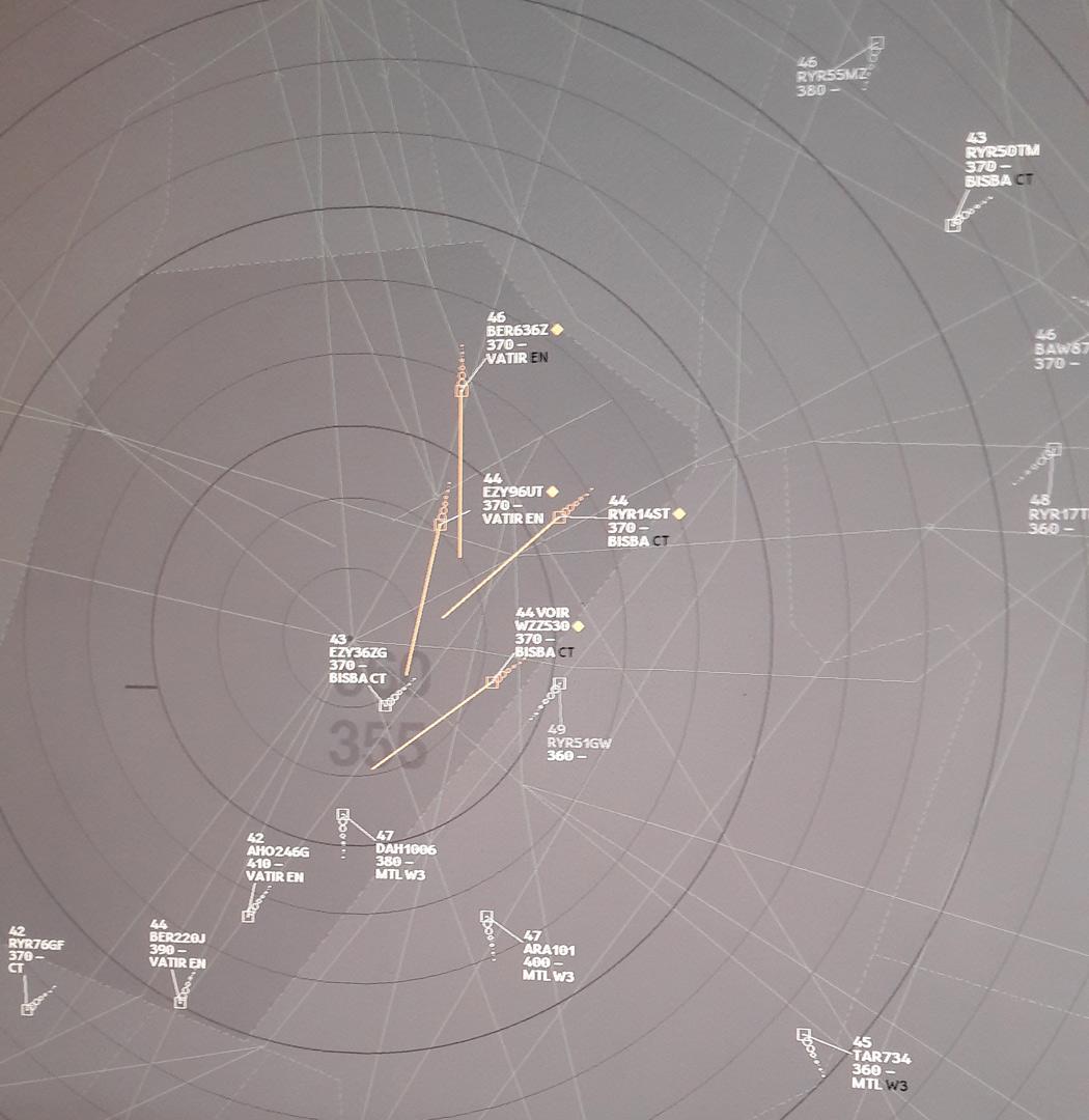 Croisement du contrôle aérien sur le point DIVKO