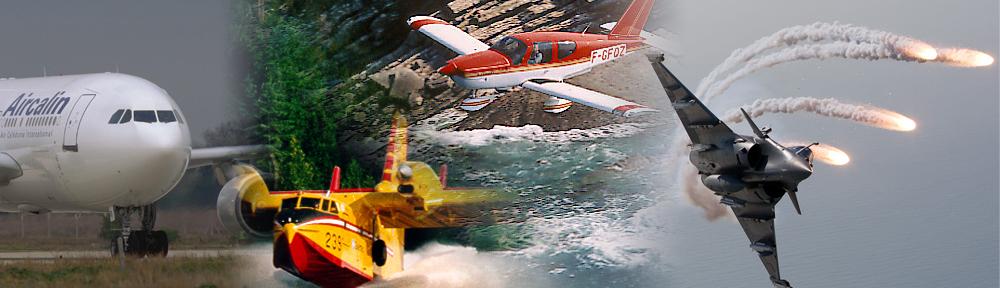 photos des différents usagers des services du contrôle aérien