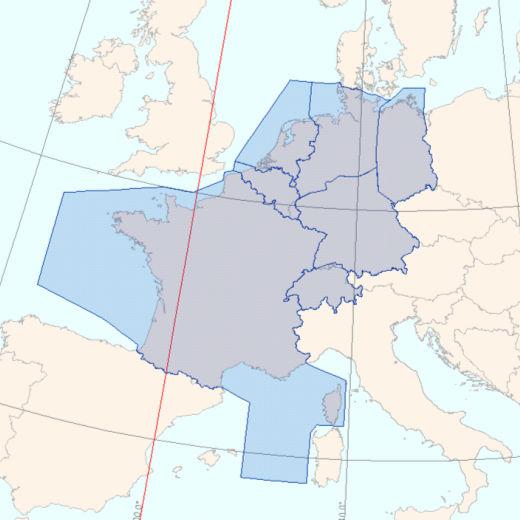 La carte des pays du FABEC