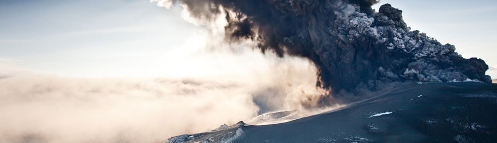 Eruption volcanique en islande.