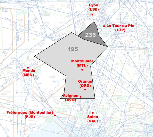 Illustration de la géographie du secteur W