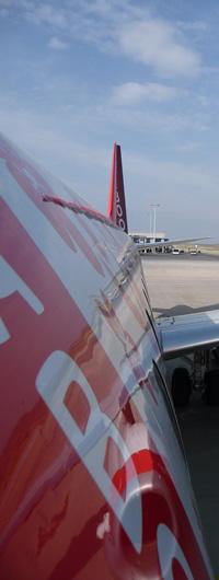 Le flanc d'un embraer 190 de Baboo