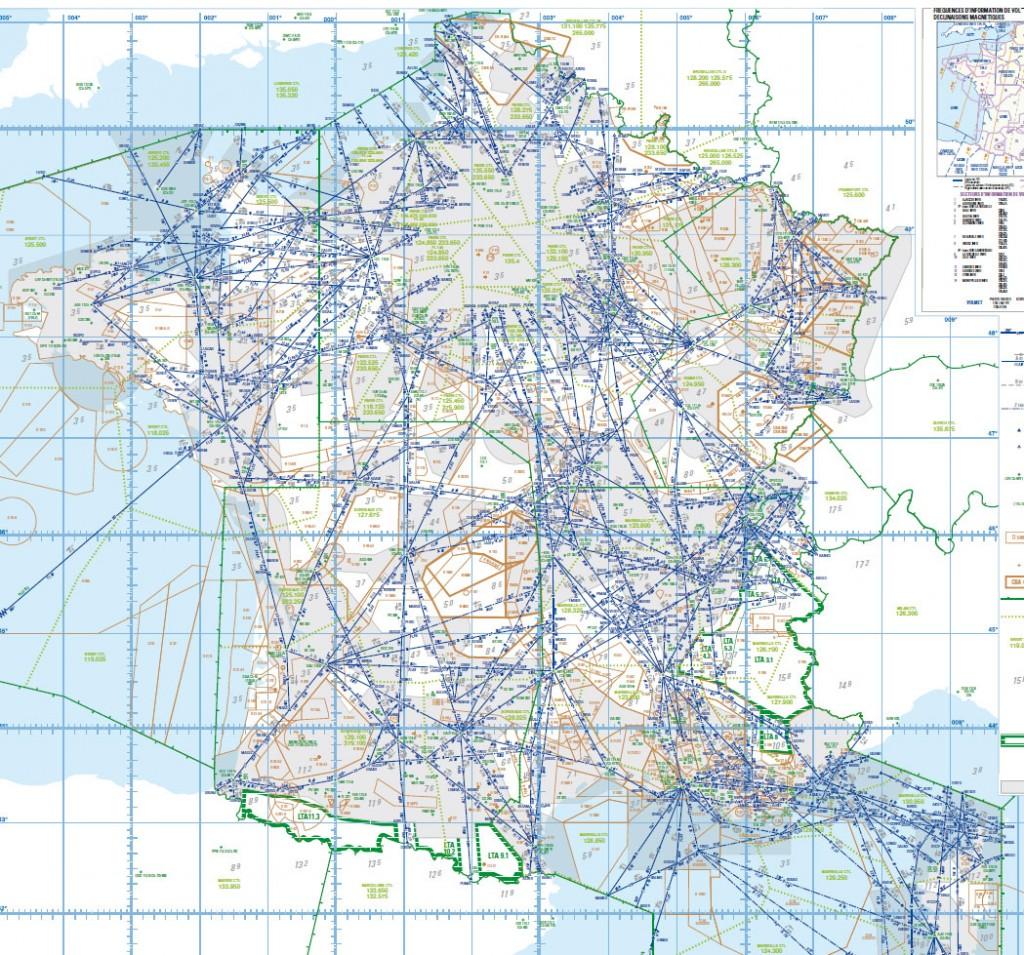 Carte des routes aériennes inférieures