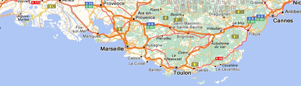 carte routière (c) viamichelin.fr