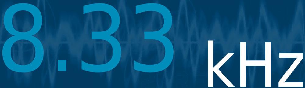 Les fréquences 8.33 kHz