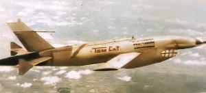 """L'AQM34 fut un des drones largement utilisé pendant la guerre du Vietnam. Cet exemplaire baptisé """"tomCat"""" fut finalement abattu."""