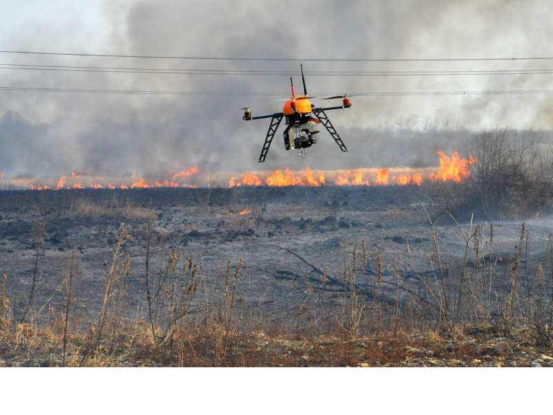 Ce drone est exploitée dans les Landes pour la prévention des incendies (c) SDIS 40