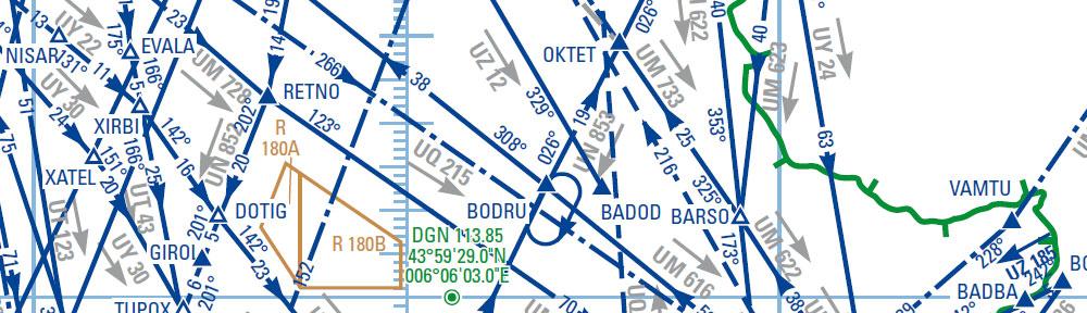 Point OKTET et routes environnantes