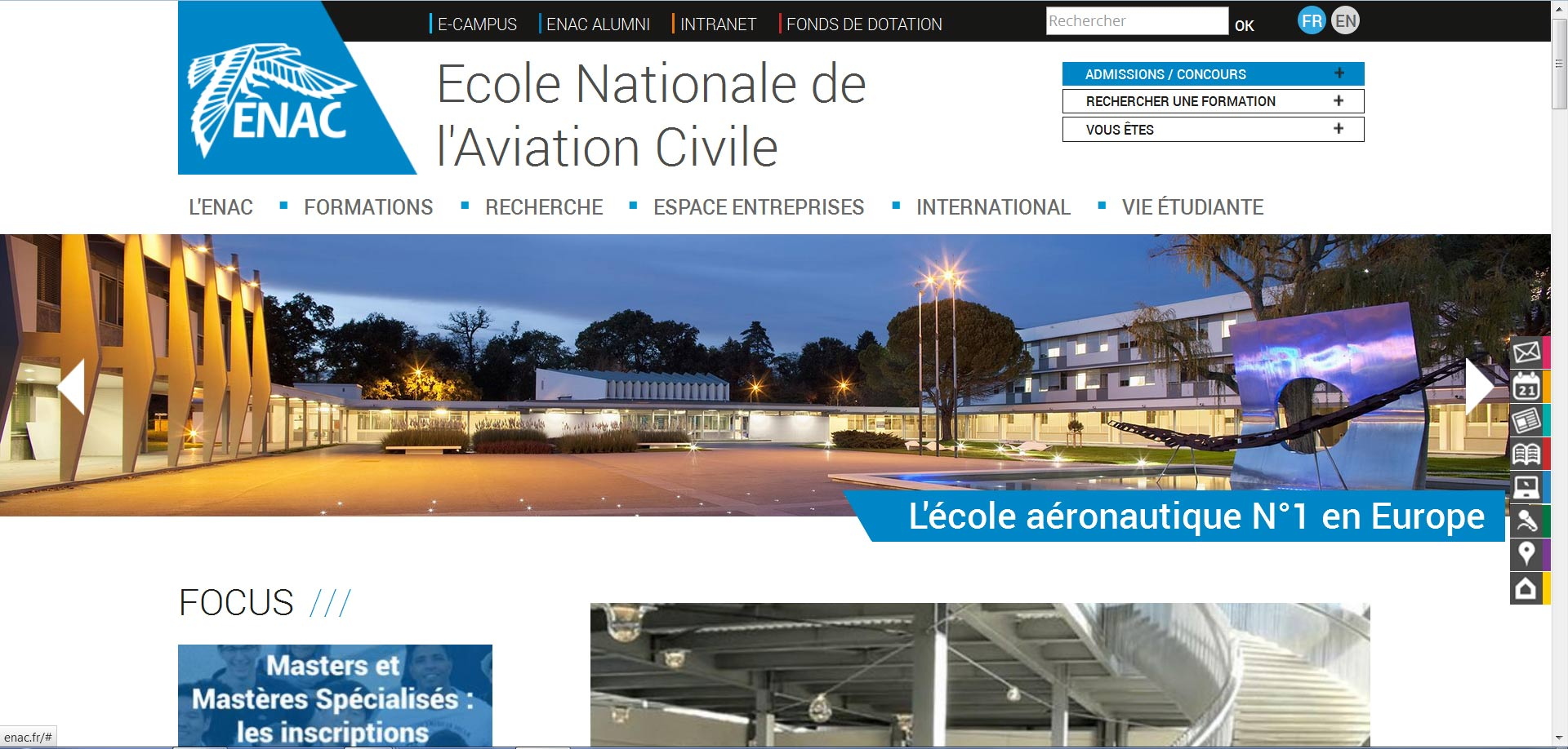 L'école nationale de l'aviation civile